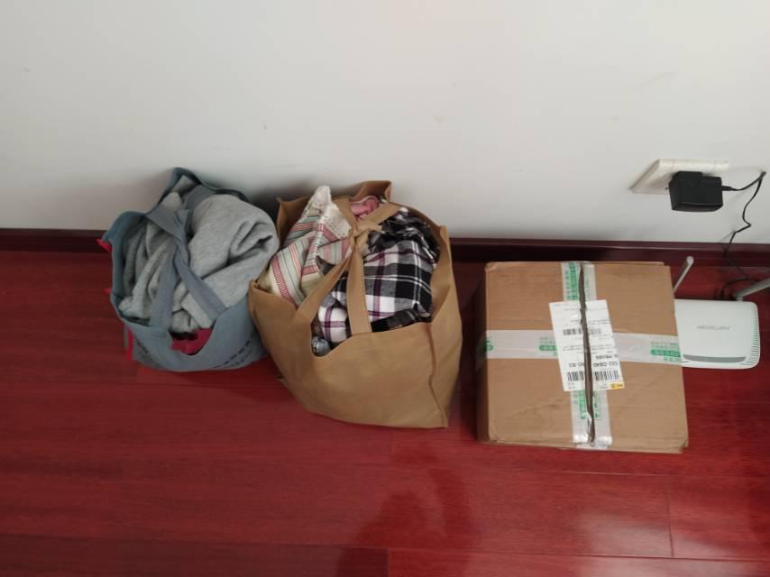 第一次捐赠衣物