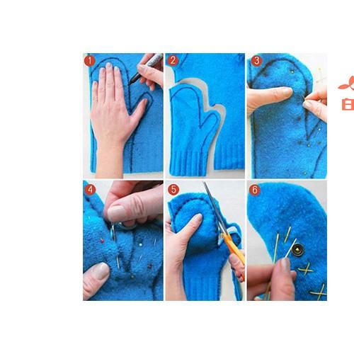 旧衣改造 | 冬天不再怕手冰冷,用旧衣服改造手套暖手吧!